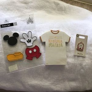 Disney Patch Set. Notepad magnet. Marie Pin